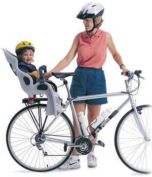 We rent baby seats for bicycles.
