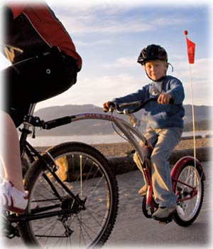 We rent trail a bikes / tag along bikes