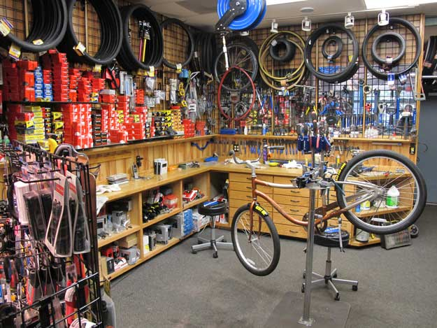 Bicycle repair area - Cyclopedia Bike Shop Pawleys Island SC