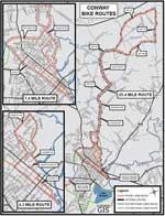 Conway Bike Trails Map